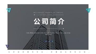简约大气公司简介ppt模板